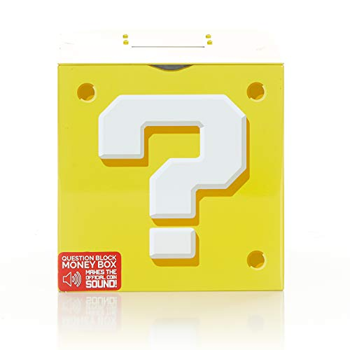 Paladone Nintendo Super Mario Bros. Question Block - Money Box Coin Bank (Gamer Piggy Bank)