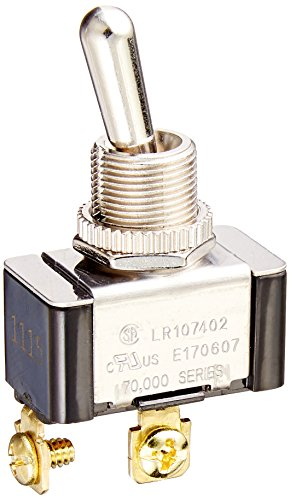 Momentary On Switch - Morris Products Momentary Contact Toggle Switch - Heavy Duty, SPST Screw Terminals - (On)-Off 2 Screw Terminals - 100,000 Mechanical Life Cycles - CURus Listed - 1.13
