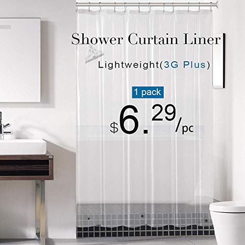 Downluxe Clear Shower Curtain