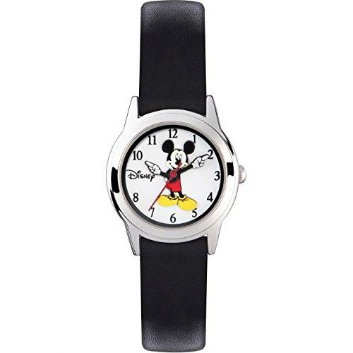 Mickey Mouse Reloj Analógico de Cuarzo Unisex con Correa de Cuero - MK1314: Amazon.es: Relojes