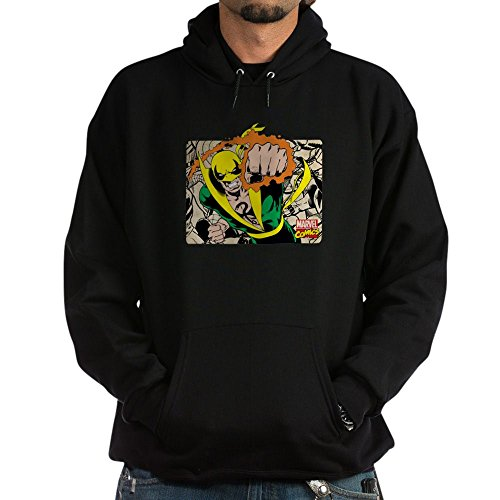 CafePress Retro Marvel Iron Fist Pullover Hoodie, Classic & Comfortable Hooded Sweatshirt Black