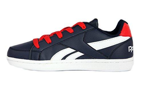 Reebok Royal Prime, Zapatillas de Deporte Para Niños Azul (Navy/Primal Red/White 000)