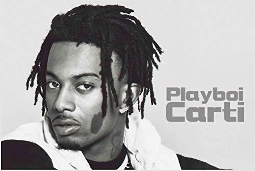 (bribase shop Playboi Carti Rapper Music Star Poster 36 inch x 24 inch)