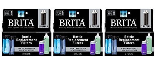 Brita Replacement Bottle Filters, 2 Count Each, 3-Pack 6 Total Filters by Britaa