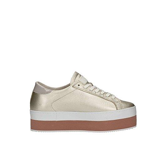 D.a.t.e. Damen Sneaker Goldfarben