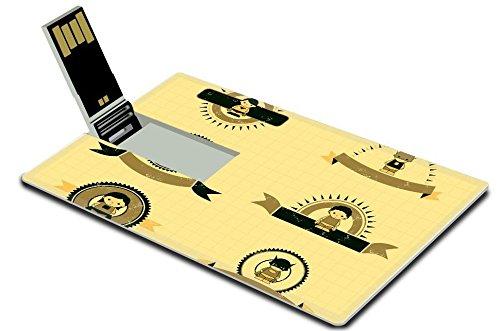 [MSD 4GB USB Flash Drive 2.0 Memory Stick Credit Card Size hero set vintage label IMAGE 20962717] (Vintage Costume Jewelry Images)