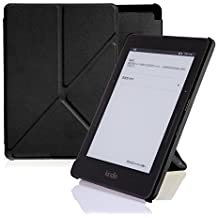 Amazon Kindle Voyage Case Cover, Leather Origami Stand, Book Folio Style, Secured with Magnetic Closure, Front...
