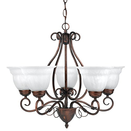 Globe Electric 65573 Beatrice 5 Light Candelier, Large, 22.5
