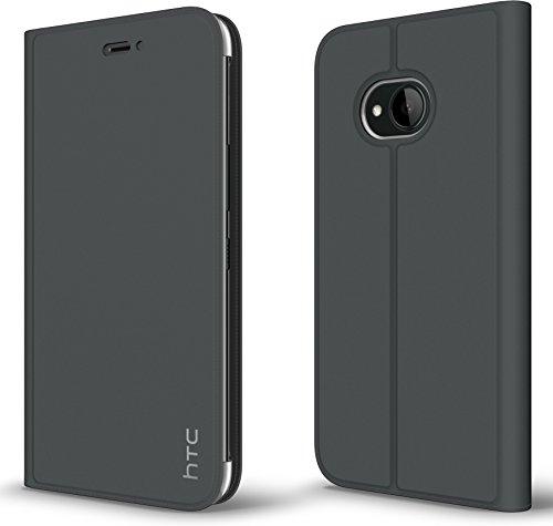 HTC Official U11 Life Protective Flip Case, Dark Grey - HC C1352 (Phone Htc Flip)