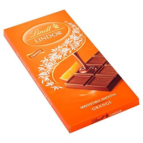 Lindt Lindor Orange Chocolate Bar 100g (Milk Chocolate Orange Bar)