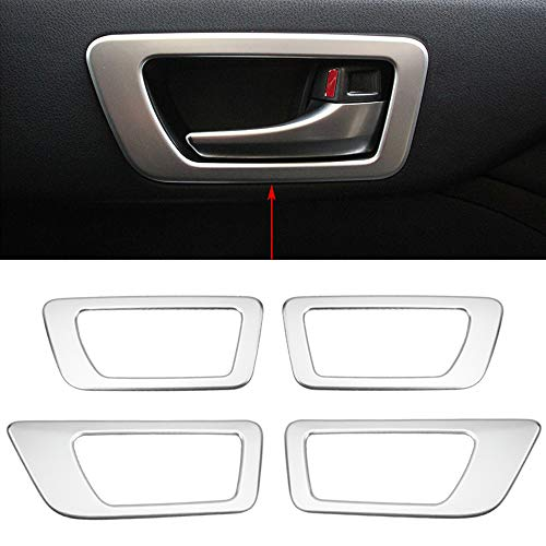 (Senzeal ABS Inner Door Handle Bowl Trim Panel Cover Fit for Toyota Highlander 2015 2016 2017 2018 2019 4PCS (Low Configuration) )