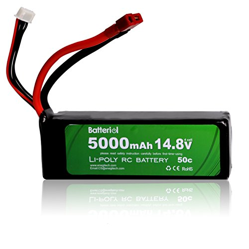 Batteriol 5000mAh 14.8V 50C 4S LiPo Battery Pack with Deans T Plug for RC Car Boat Truck Roar Approved (Rc Car Multi Battery Charger compare prices)
