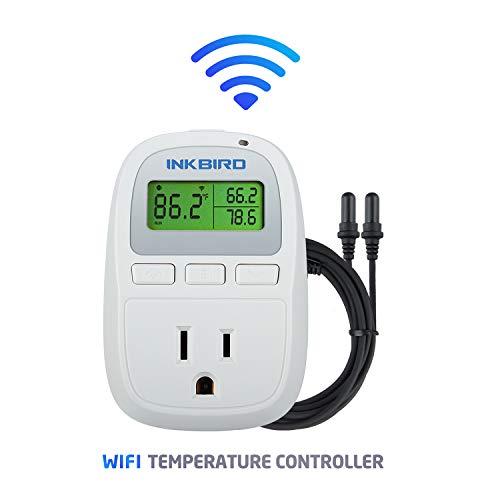 Inkbird C929A Wi-Fi Aquarium Temperature Controller with 1200W Dual Probe Thermometer for Fish Tank, Water Terrarium