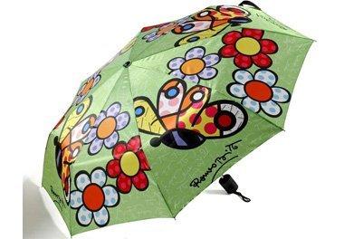 Romero-Britto-Travel-Size-Umbrella-ButterflyFlowers
