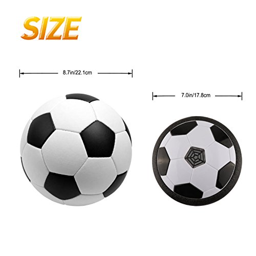 The Amazing Air Soccer Hover Ball - World Cup Limited Edition , Most Popular Toys for 4-5 Year Old Boys & Girls , Best Summer Indoor Kids Sports Gifts Set - 1 x Floating Disc with 2 x Net
