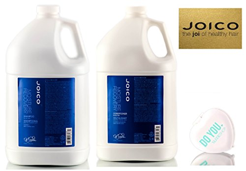 Joico Moisture Recovery Shampoo & Conditioner for dry hair DUO Set (with Sleek Compact Mirror) (128 oz / 1 Gallon Professional DUO Kit) by Moisture Recovery by Joico