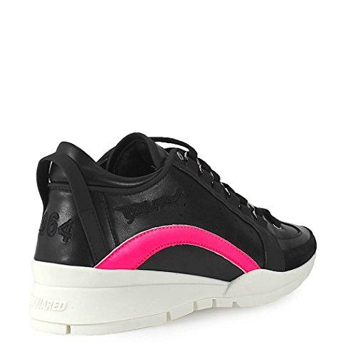 Printemps Chaussures 2018 Fuchsia Dsquared2 Femme Noir 551 Baskets été Ywqfp
