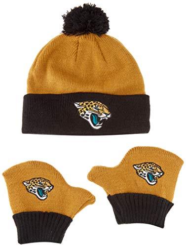 - OTS NFL Jacksonville Jaguars Pow Knit Cap & Mittens Set, Wheat, Infant