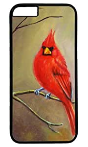 Cardinal Bird Art Painting Masterpiece Limited Design PC Black Case for iphone 6 plus by Cases & Mousepads by runtopwell