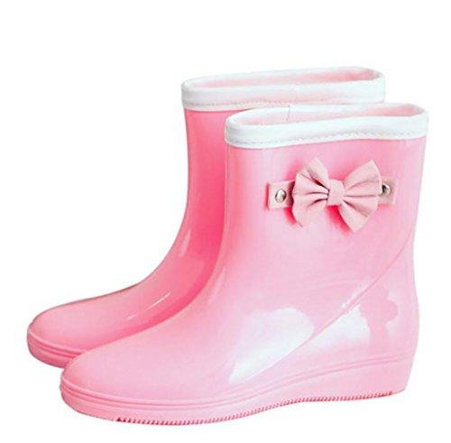 Anti-Rutsch-Regen Stiefel, Gummiregen Stiefel, Casual Regen Stiefel, Mode Wasserdicht Regen Stiefel, Erwachsene Kurze Schlauch Regen Stiefel Frauen Anti-Rutsch-Regenstiefel A