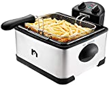 New House Kitchen Jumbo Size Deep Fryer w/Adjustable Temp Removable Basket and Oil