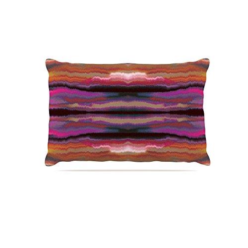 Kess InHouse Nina May Sola color  Fleece Dog Bed, 50 by 60 , Pink orange