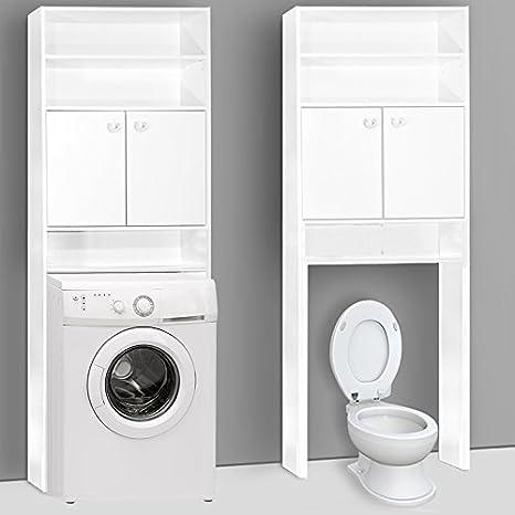Mobiletto per bagno con incasso per WC o lavatrice, dimensioni 195 x ...