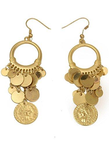 Rubie's Women's Standard Gold Coin Earrings, One Size