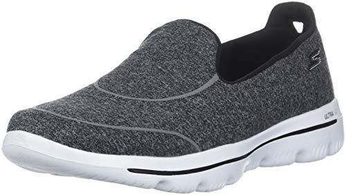 Skechers Women's GO Walk Evolution Ultra Dedicate Sneaker, Black/White, 10 M US