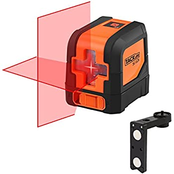 Tacklife SC-L01 Classic Cross Line Laser Self-Leveling Horizontal and Vertical Line Laser Level 50 Feet with Magnetic Mount Base Battery Included