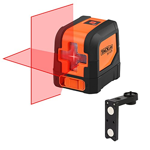 Tacklife SC-L01 - 50 Feet Laser Level Self-Leveling Horizontal and Vertical Cross-Line Laser - Magnetic Mount Base and Carrying Pouch, Battery Included