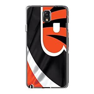 Shock Absorbent Hard Phone Case For Samsung Galaxy Note 3 With Allow Personal Design Trendy Cincinnati Bengals Image RobAmarook
