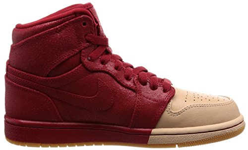 Jordan Nike Women's 1 Retro Hi Premium Basketball Shoe Multicolour (Gym Red/Metallic Gol 607) JdyF6