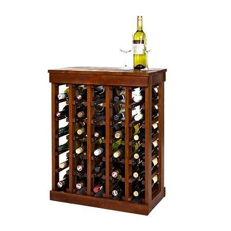 New Real Wooden Wine Rack / Cabinet, Muscat 30 Warm Oak, Kitchen / Bar