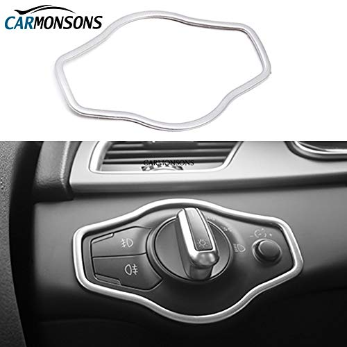 - car Interior Accessories Stainless Light Switch Frame Sticker Decoration Cover for Audi A4 B8 A5 8T Q5 8R Accessories Car Styling