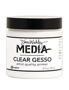 Dina Wakley Media Clear Gesso 4oz Jar-