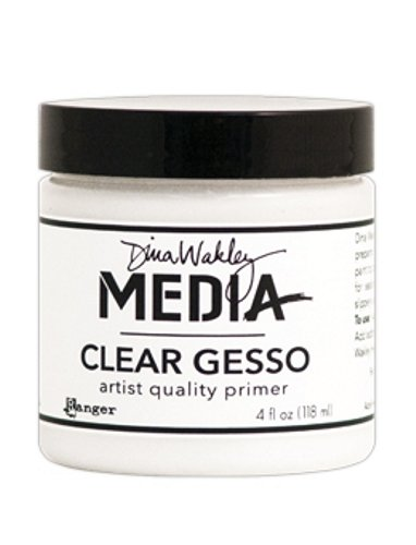 Ranger MDM46424 Dina Wakley Media Gesso 4oz Jar, Clear -