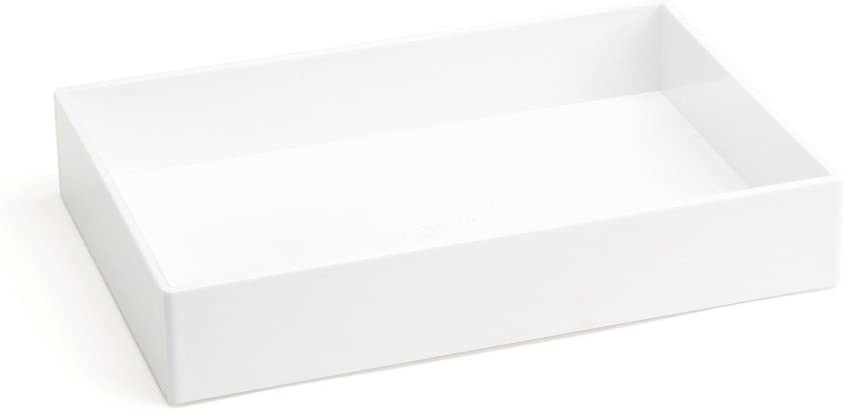 "Poppin Accessory Tray White, 6-7/8"" X 9-7/8"" X 1-3/4"" H"