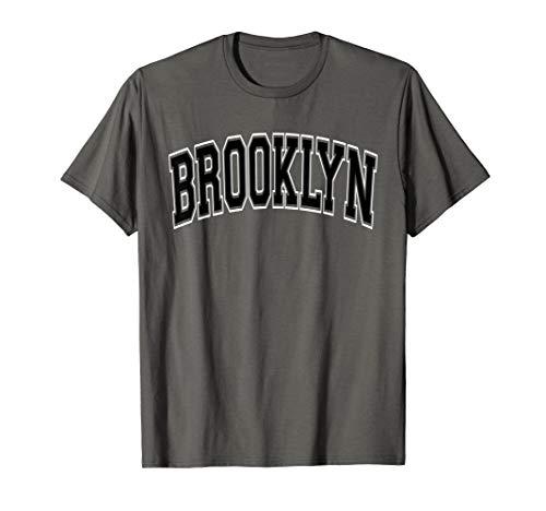 Brooklyn T Shirt - Varsity Style Black Text