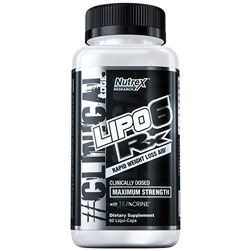 Nutrex Research Lipo-6 RX | Clinically Dosed Weight Loss Support | TeaCrine, Ginger Root Extract, DMAE, Tyrosine, Caffeine | - Cycles Intense Spider