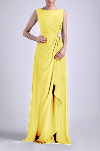 Straps Chiffon Natrual Women's Adorona Daffodil Dress Bateau Sleeveless Sheath Long 5EqtnxnO