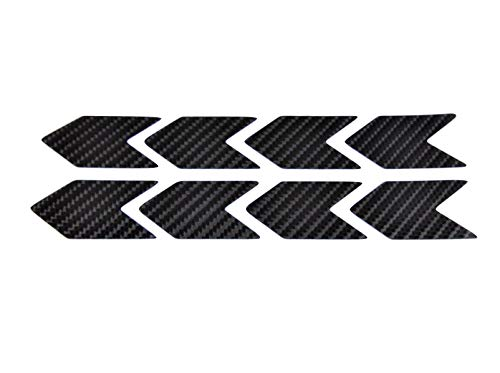 (Chevron Kevlar Carbon Fiber Sticker Decal Arrow 8 x Sign PVC Vinyl Sport Motorbike Helmet Motorcycle Bike Racing Car Badge Door Window Tailgate Truck Trunk Side Rear Emblem)