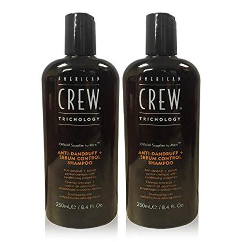 Active Control Anti Dandruff Shampoo - American Crew Anti-Dandruff Plus Sebum Control Shampoo (8.4 fl oz) - 2 Pack