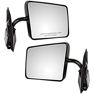 Sale Off Driver and Passenger Manual Side View Mirrors Below Eyeline Replacement for Chevrolet GMC Pickup Truck SUV 15642571 15642572