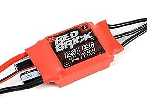 Amazon.com: HobbyKing Red Brick 125A ESC (Opto) Ver 2.0: Toys & Games