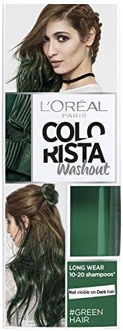 LOreal Paris Colorista Washout Tinte para el Cabello Semipermanente Verde 80ml