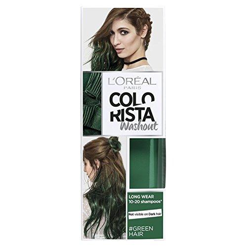 L'Oreal Paris Colorista Washout Green Semi-Permanent Hair Dye 80ml