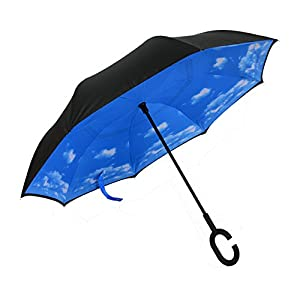 Aweoods Double Layer Inverted Umbrella Cars Reversible Umbrella by Aweoods