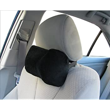 TravelMate Car Neck Pillow Soft Version Memory Foam Rest Color Black