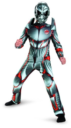 Deluxe Space Alien Costumes (Disguise Combat Operative Recon Expedition Alien Warrior Classic Boys Costume, 7-8)